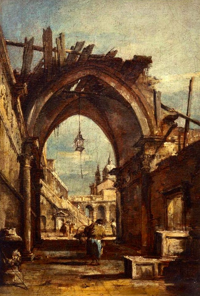 Architectural Fantasy with Gothic Arch, Guardi