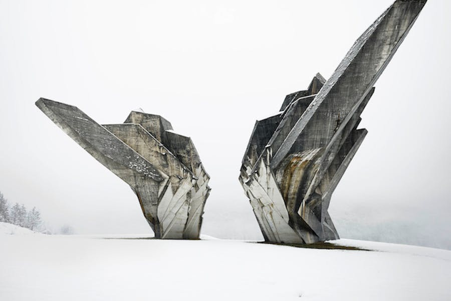 Monument to the Battle of the Sutjeska, Tjentište, Bosnia and Herzegovina, 1965-71, Miodrag Živković and Đorđe Zloković. Photo: Valentin Jeck, commissioned by The Museum of Modern Art