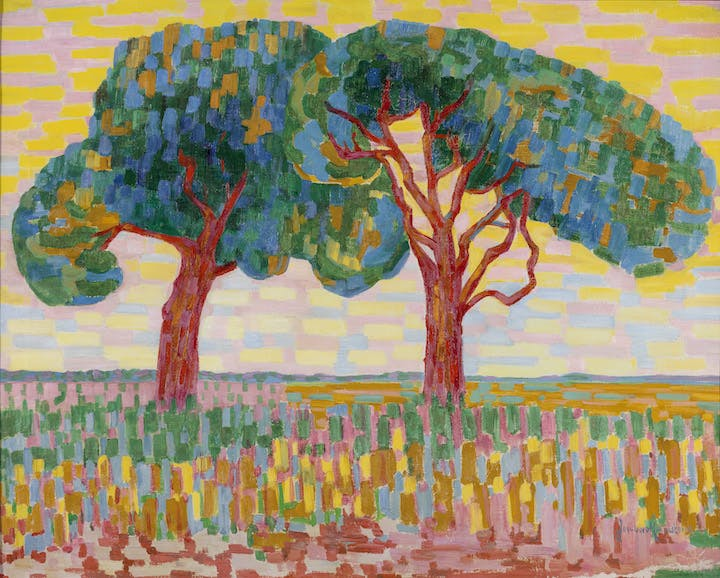 Two Trees (1908-10), Jacoba van Heemskerk. Courtesy of Gemeentemuseum Den Haag
