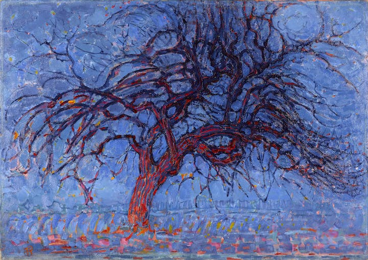 Avond (Evening): The Red Tree (1908-10), Piet Mondriaan. Courtesy of Gemeentemuseum Den Haag