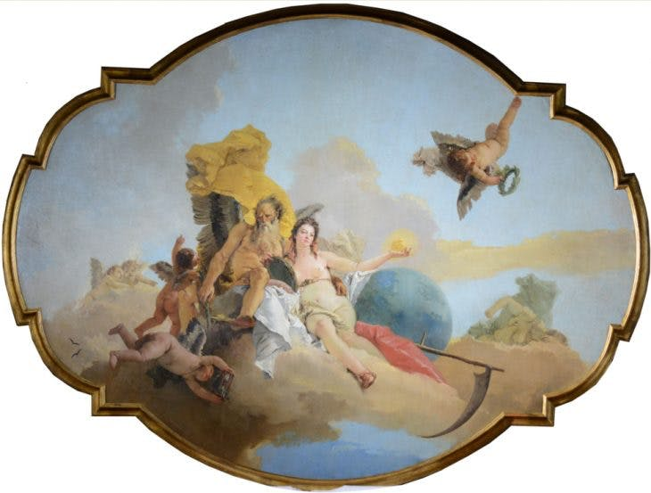 Truth Unveiled by Time Giambattista Tiepolo