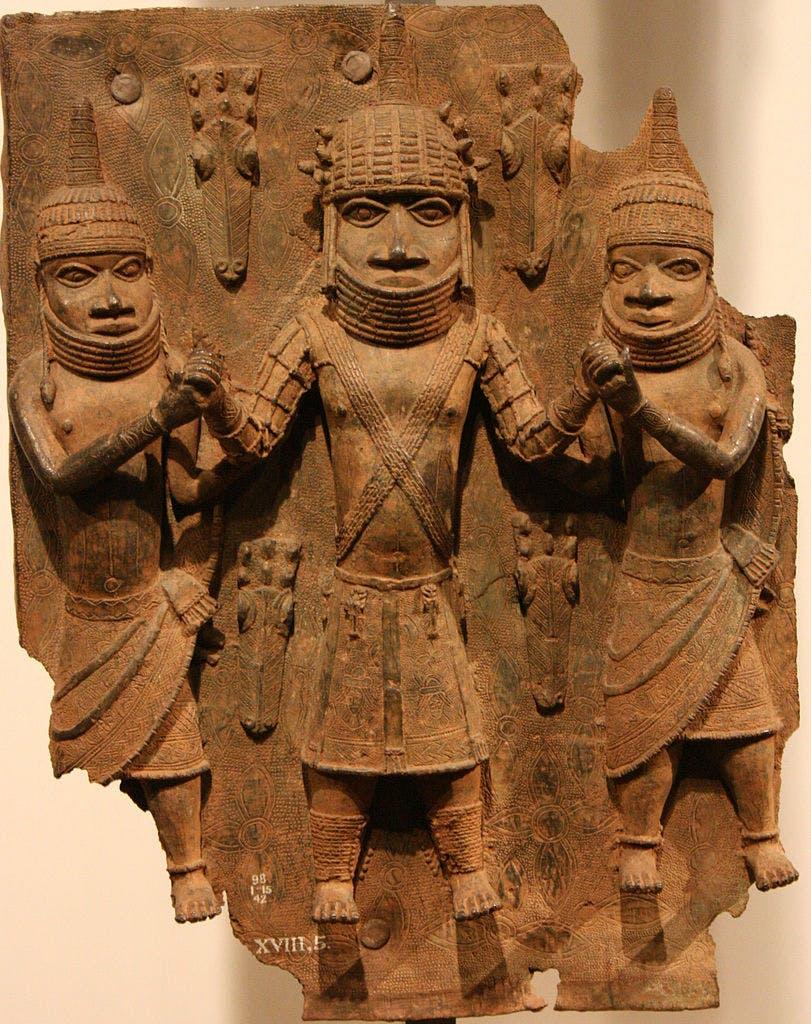 Brass plaque, Benin