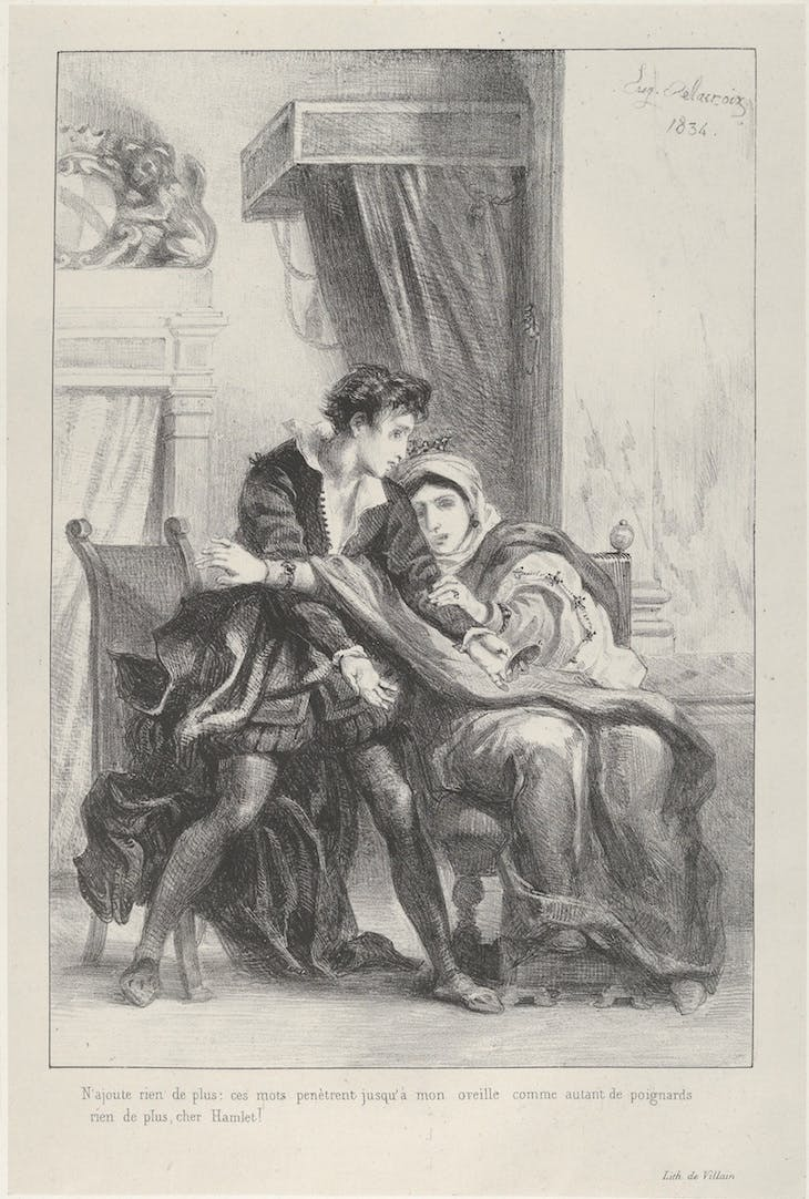Hamlet and the Queen, Delacroix