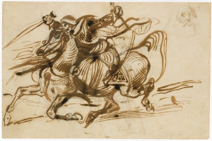 The Giaour on Horseback, Delacroix
