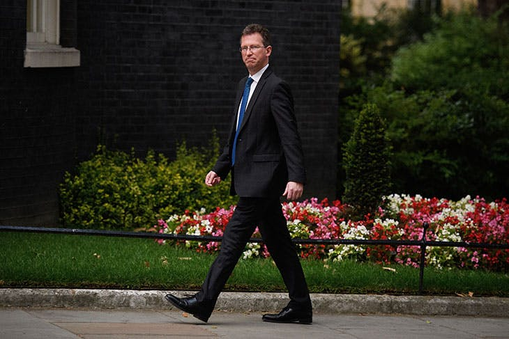 Jeremy Wright arriving at number 10 Downing Street before accepting the position of Culture Secretary on 9 July 2018.