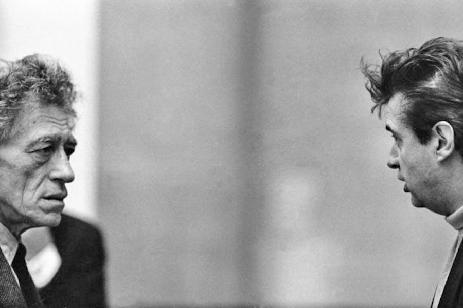 Alberto Giacometti and Francis Bacon, 1965, (1965) Graham Keen, © Graham Keen