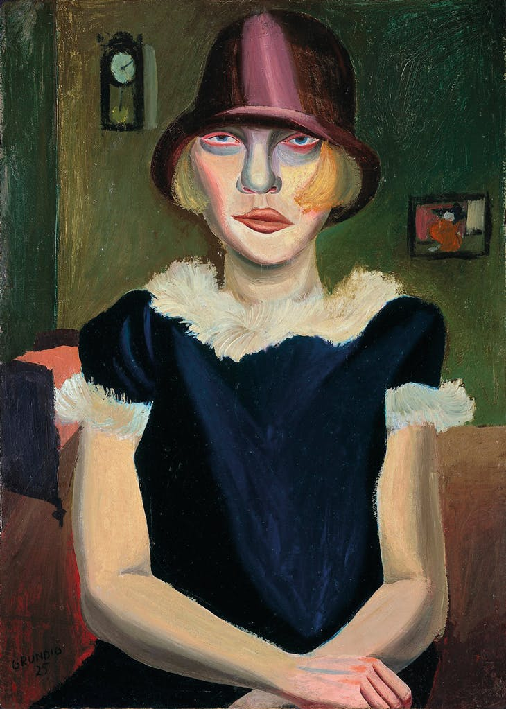 Girl with Pink Hat, Grundig