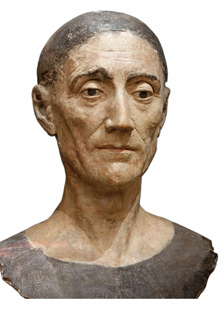 Funeral effigy head of Henry VII (1509), attrib. to Pietro Torrigiano.