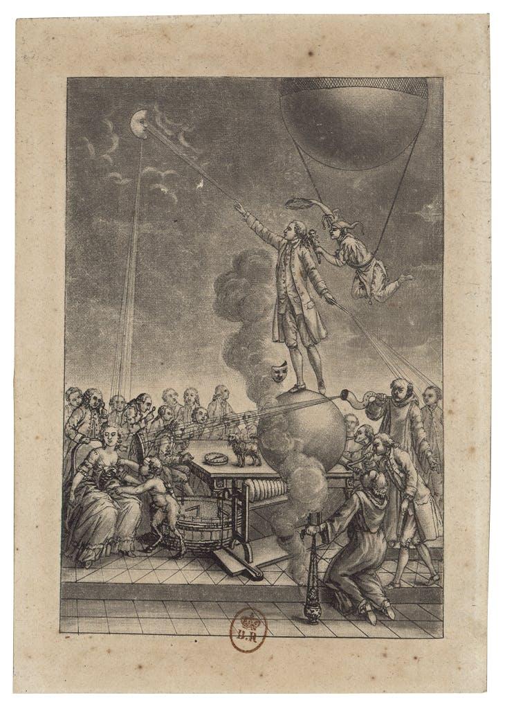 Mesmer magnétisant une patiente (1784), unsigned.