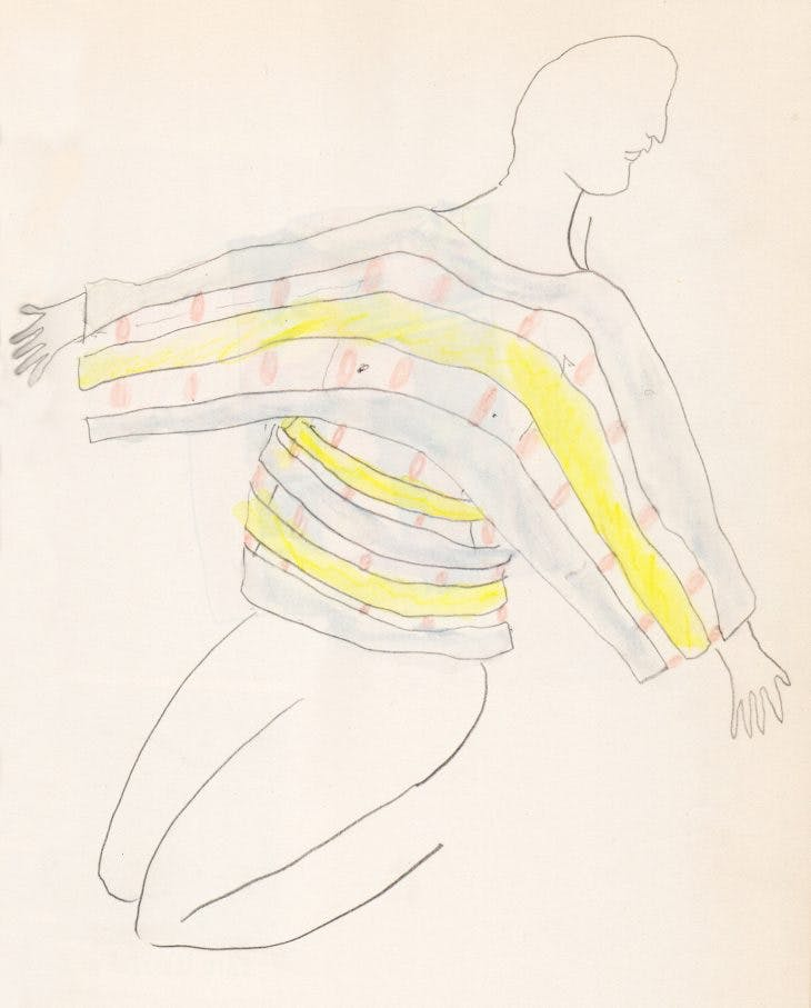 Untitled (preparatory drawing for 'Possessed'), Eckhaus Latta