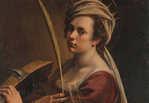 Self Portrait as Saint Catherine of Alexandria (c. 1615–17; detail), Artemisia Gentileschi.