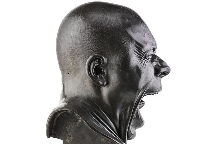 The Yawner (side view; c. 1770–83), Franz Xaver Messerschmidt.