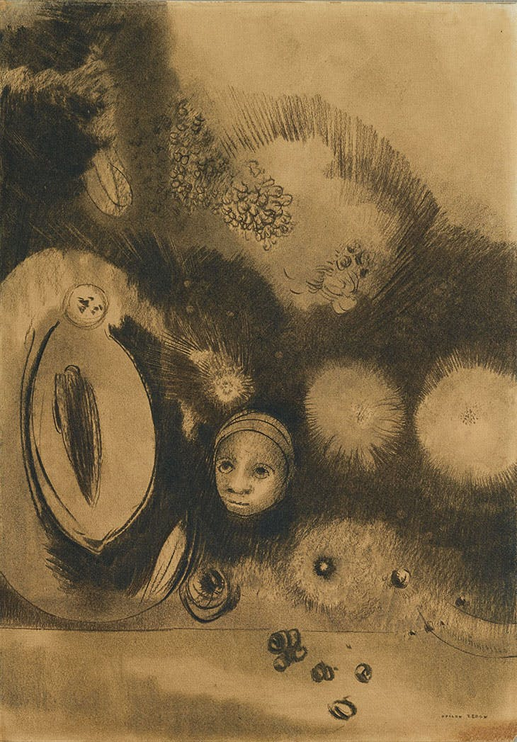 Face-Germination (1888), Odilon Redon.