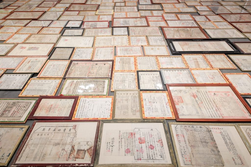 Leasehold, (2009) Mao Tongqiang, installation view at the Yinchuan Biennale, courtesy of the Yinchuan Biennale