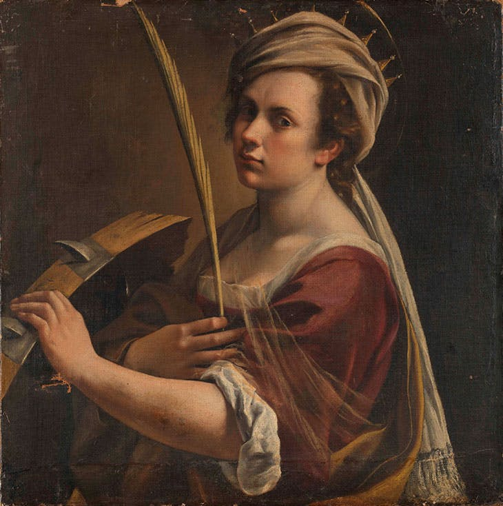 Self Portrait as Saint Catherine of Alexandria (c. 1615–17), Artemisia Gentileschi.