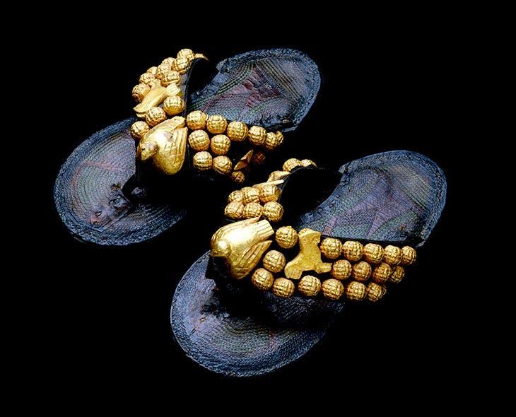 Pair sandals (1900–80), Ghana, Asante peoples