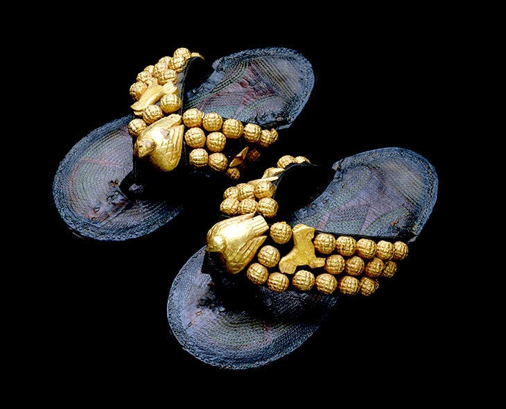 Pair sandals (1900–80), Ghana, Asante peoples