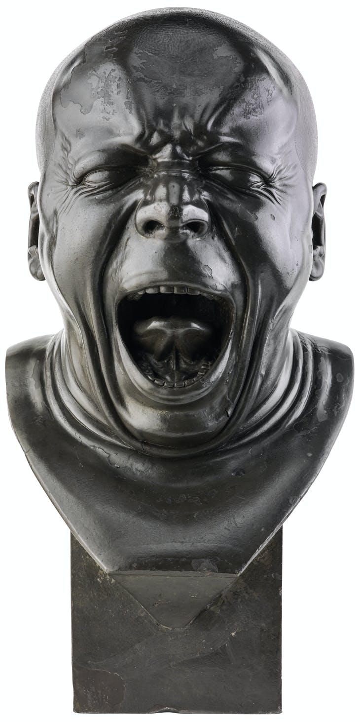 The Yawner (front view; c. 1770–83), Franz Xaver Messerschmidt.