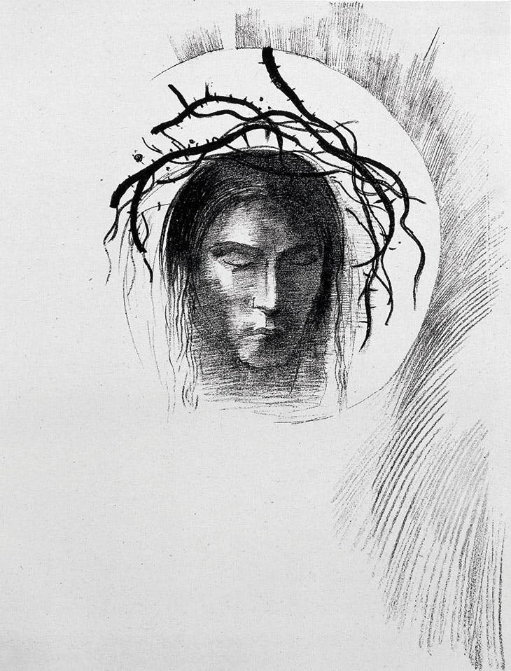 Day Appears at Last...and in the Very Disk of the Sun Radiates the Face of Jesus Christ , Odilon Redon, lithograph from The Temptation of Saint Anthony by Gustave Flaubert (Éditions Ambroise Vollard, Paris, 1933–38)