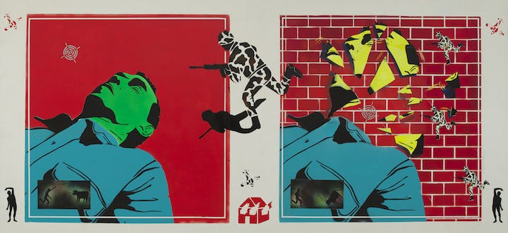 Untitled (Green Head) (1982), David Wojnarowicz. Image courtesy of the Estate of David Wojnarowicz and P.P.O.W., New York