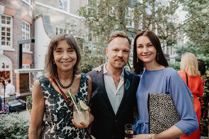 Laura Gascoigne, Simon Martin and Jo Baring