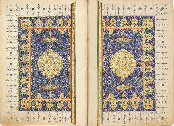 Frontispiece of the Ruzbihan Qur'an. Chester Beatty Library, Dublin