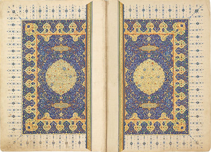 Frontispiece of the Ruzbihan Qur'an. Chester Beatty Library, Dublin