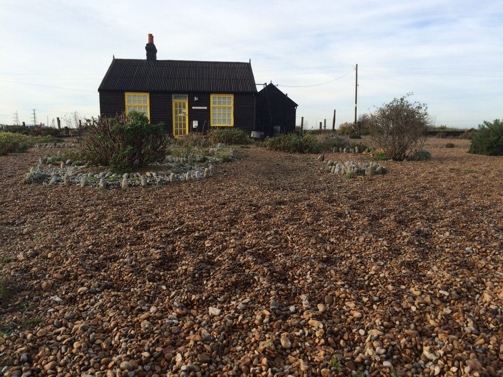 Derek Jarman's cottage at Dungeness, Kent, photo: flickr/surreydock