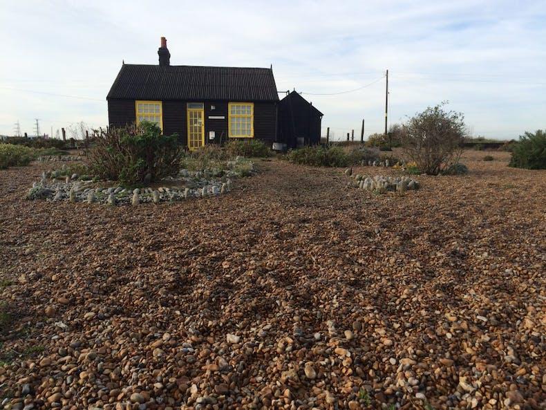 Derek Jarman's cottage at Dungeness, Kent, photo: flickr/surreydock