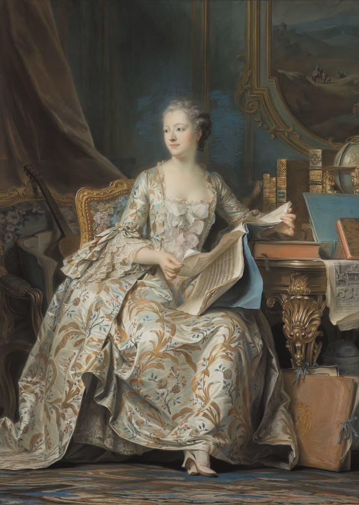 The Marquise de Pompadour (1752–55), Maurice-Quentin de La Tour, Musée du Louvre, Paris.
