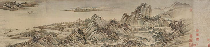 Ten Thousand Li up the Yangtze River (detail; 1699), Wang Hui