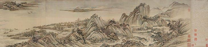 Ten Thousand Li up the Yangtze River (detail; 1699), Wang Hui