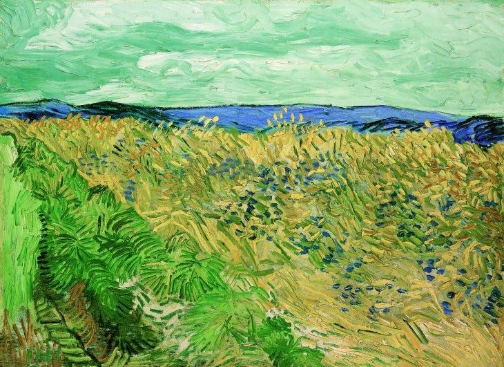 Wheatfield with Cornflowers, Vincent van Gogh