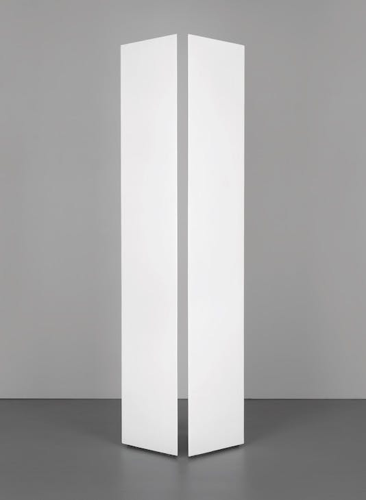 Untitled (Two Triangular Columns) (1965), Mary Corse.