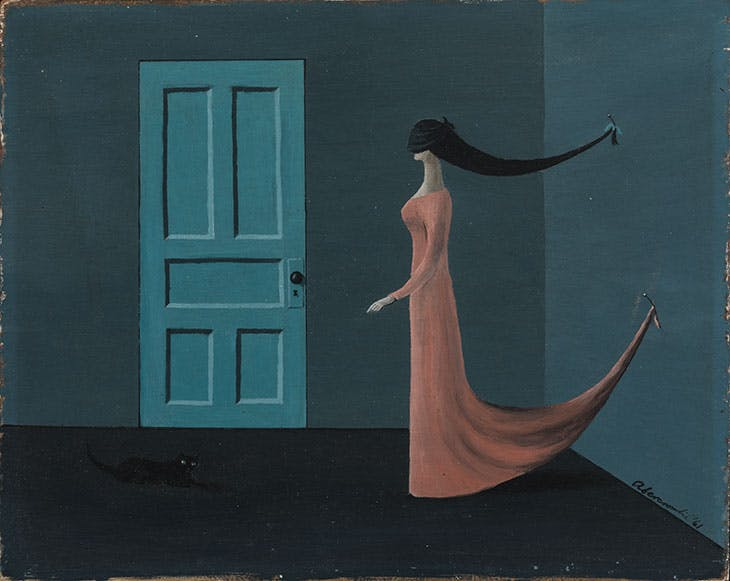 Untitled (Lady with a Cat) (1961), Gertrude Abercrombie.