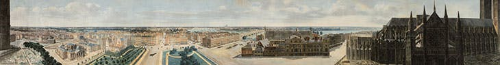 A panoramic view of London, from the tower of St. Margaret's Church, Westminster (c. 1815), Pierre Prévost