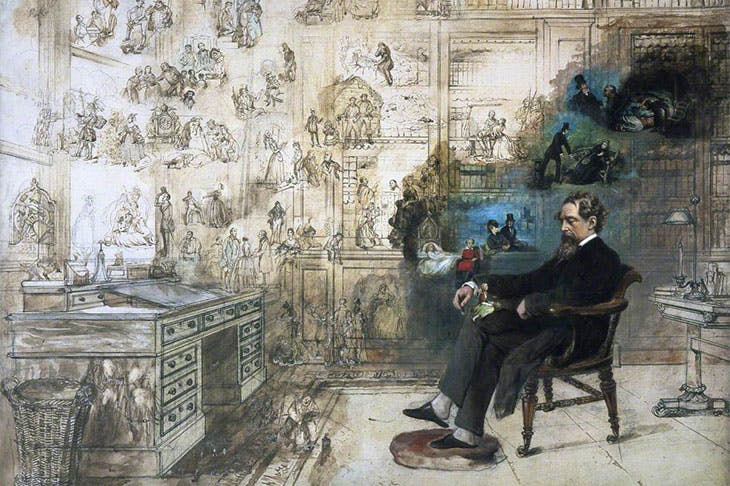 Dickens's Dream (detail; 1875), Robert William Buss.