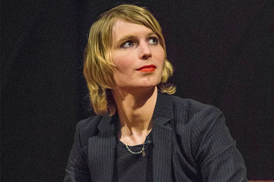 Portrait of Chelsea Manning.