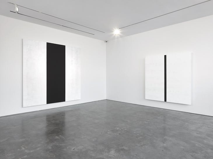 Installation view, 'Mary Corse' at Lisson Gallery, London (11 May–23 June)