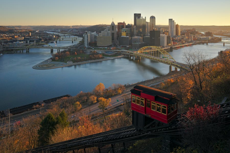 A view of downtown Pittsburgh, one of the US cities whose cultural organisations are the beneficiaries of the Bloomberg Philanthropies Arts Innovation and Management Training Program.