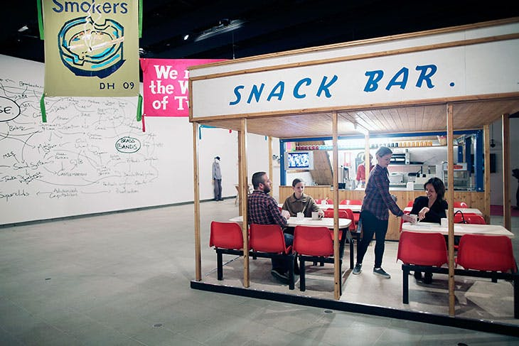 Valerie's Snack Bar (2009), Jeremy Deller. Installation view at the Hayward Gallery, London, 2012.