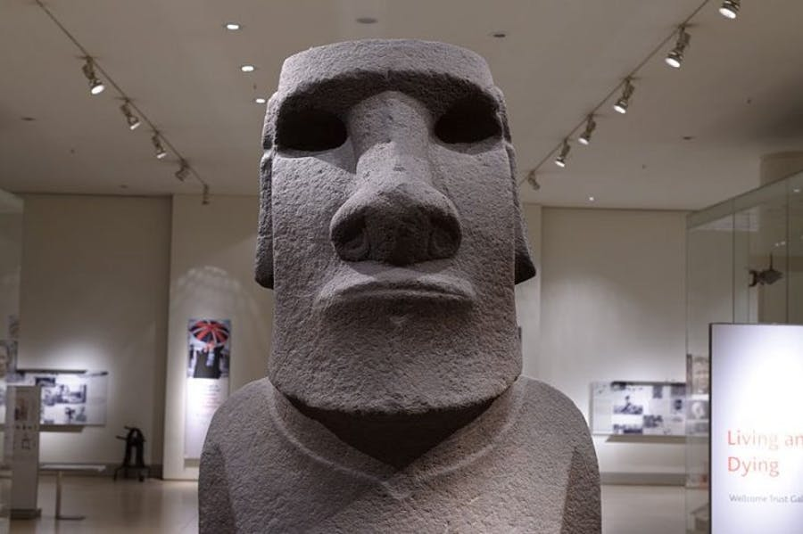 The Hoa Hakananai'a at the British Museum in London.