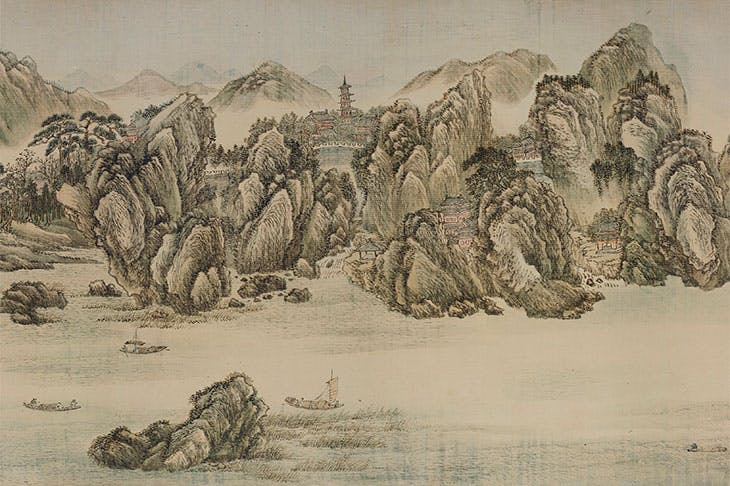 10,000 Miles Along the Yangzi River (detail; 1699), Wang Hui