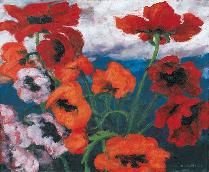 Großer Mohn (Rot, Rot, Rot) (Large Poppies [Red, Red, Red]) (1942), Emil Nolde.