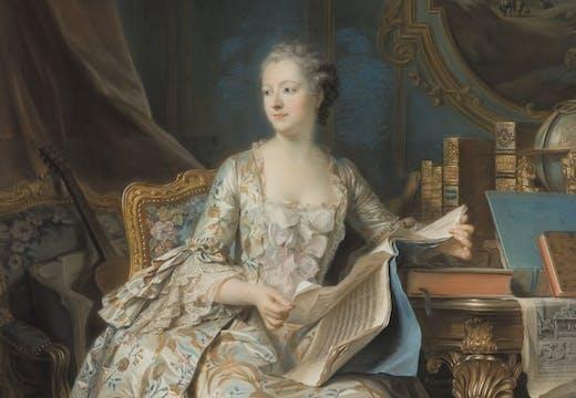 The Marquise de Pompadour, (1752–55), Maurice-Quentin de la Tour. Musée du Louvre, Paris, photo: © RMN-Grand Palais (musée du Louvre)/Laurent Chastel