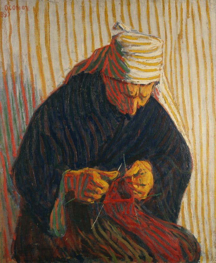 Breton Peasant Woman Knitting, Roderic O'Conor
