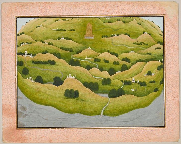 The Earth from a series depicting the Bhagavata Purana (c. 1775–90), Nainsukh family workshop, Parahi.