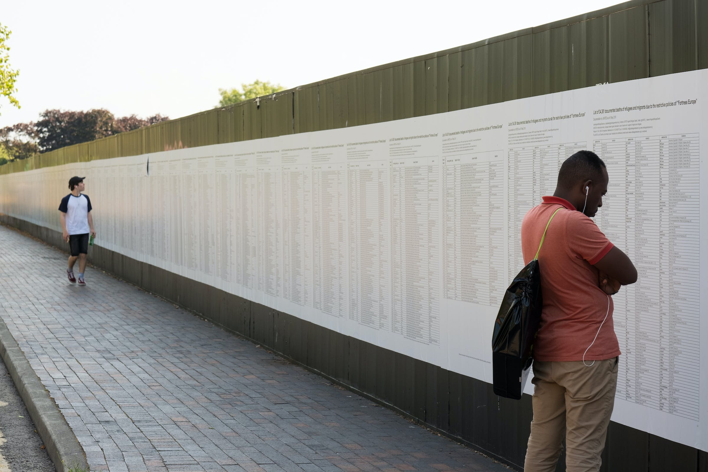 'The List', before its defacement. Credit: Liverpool Biennial/Mark McNulty.