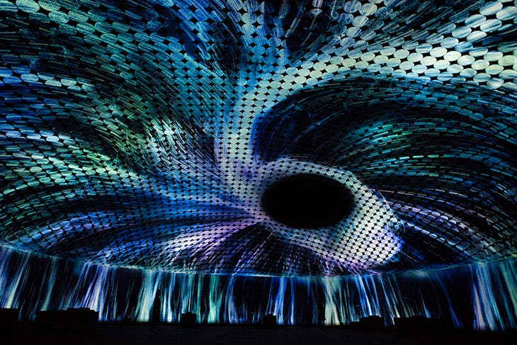 Vortex of Light Particles (2018), teamLab.
