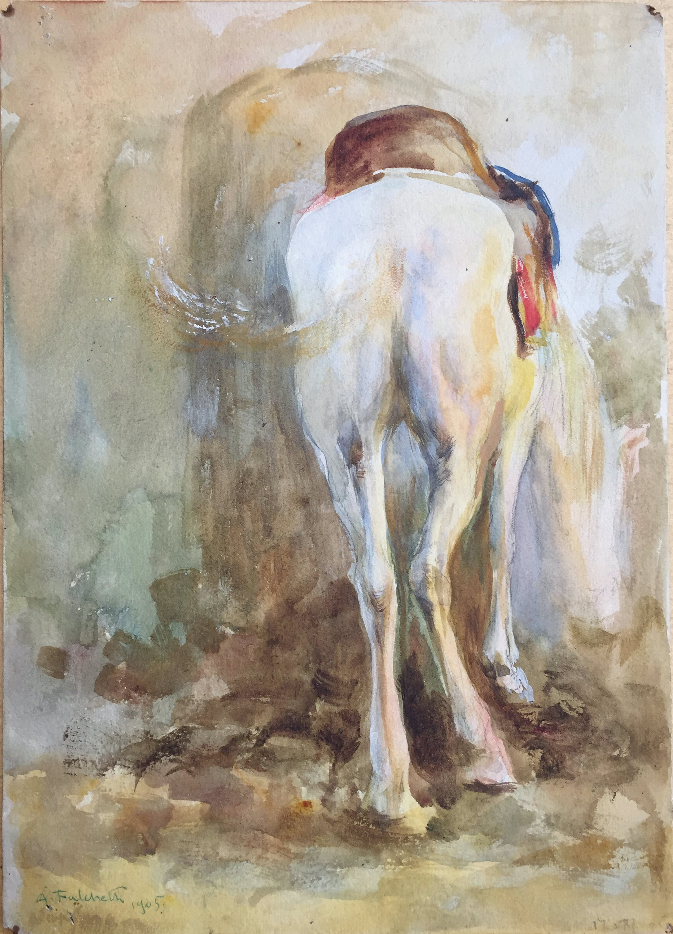 White Mule (1905), Alberto Falchetti, private collection